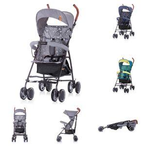 Chipolino Kinderwagen, Buggy Coco, bis 22 kg, Vorderräder schwenkbar, klappbar, Farbe:grau