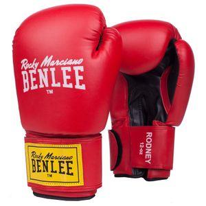 BENLEE Rocky Marciano Boxhandschuhe Unisex – Erwachsene Rot-Schwarz, Größe:12 oz