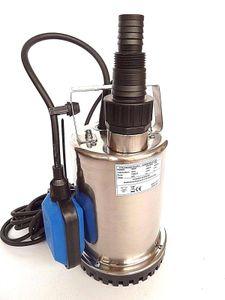CHM GmbH® Flachsaugpumpe Edelstahl 400 Watt Kellerpumpe, Tauchpumpe, Poolpumpe