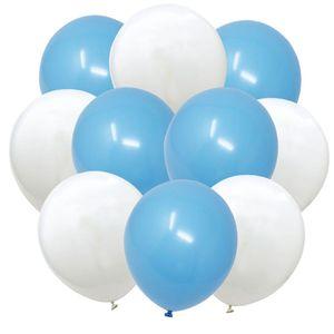 Oblique Unique Luftballon Set 10 Deko Ballons Oktoberfest Party Kinder Geburtstag Baby Shower Junge blau weiß