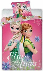 Disney Frozen Kinder Bettwäsche Eiskönigin Anne Elsa Kopfkissen Bettdecke 100 x135 cm