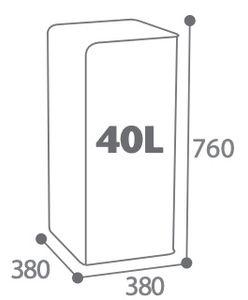 CUBATRI Abfalleimer 40L mit passgenauer Öffnung für Abfalltrennung von Rossignol, Farbe:Verkehrsweiß