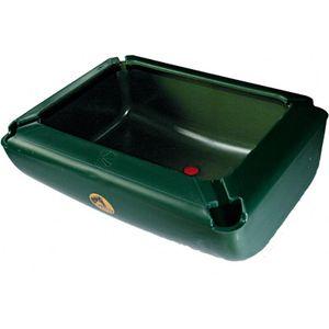 Kunststoffrechteck Trog 27 Liter für Pferde grün mit Auswurfkante