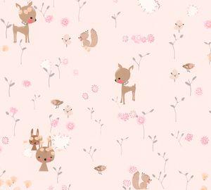 A.S. Création Kinderzimmertapete Boys & Girls Papiertapete rosa grün braun 10,05 m x 0,53 m
