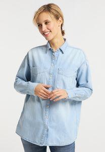 MUSTANG Damen Hemd Jeanshemd Relaxed Fit Farbe: hellblau Größe: 36