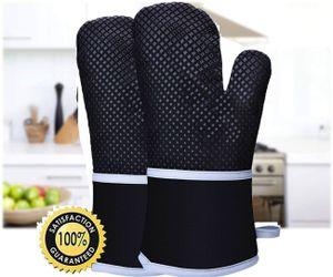 2x Topfhandschuhe Ofenhandschuhe Backhandschuhe Küchenhandschuhe Rutschfeste Oberfläche Baumwollfutter