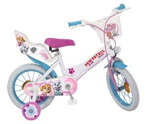 14 Zoll Disney Kinder Mädchen Fahrrad Kinderfahrrad Mädchenfahrrad Rad Bike Paw Patrol Weiß