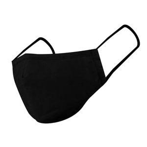Mehrweg Stoffmaske Schwarz Waschbar Mundmaske Behelfsmaske Mundbedeckung Gesichtsmaske Stoff Mund Nasen Maske Mehrwegmaske