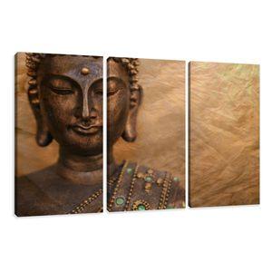 160 x 90 cm Bild auf Leinwand Buddha 1041-VKF deutsche Marke und Lager  -   fertig gerahmt , exklusive Markenware von Visario