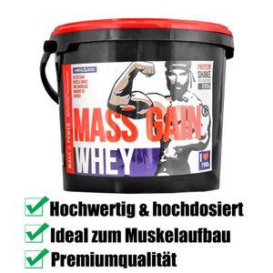 WHEY MASS GAIN 3kg Weight Gainer Protein Eiweißpulver Aminosäuren Glutamin BCAA Muskelmasse Muskelaufbau Gewichtszunahme