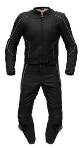 """XLS Lederkombi zweiteilig Modell """"Black Arrow"""" Zweiteiler matt schwarz Gr. 46 48 50 52 54 56 58 60 62 64"""