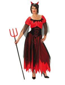 Teufelin Teufel Karneval Fasching Kostüm Gr 38