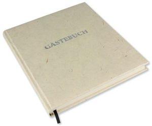 Gästebuch m.Wortprägung creme