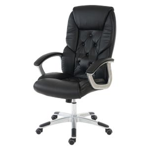 Profi-Bürostuhl L42 XXL, Chefsessel Drehstuhl, 150kg belastbar Kunstleder  schwarz