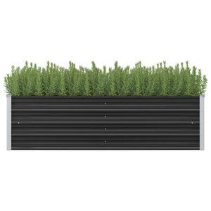 Garten-Hochbeet Anthrazit 160 x 40 x 45 cm Verzinkter Stahl