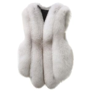 Plus Size Damen Slim Weste Gilet Outwear Warme Kunstpelz Weste Mantel Weste Größe:XXL,Farbe:Weiß