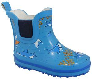 Beck Kinder Gummistiefel LITTLE SHARKS  894 blau, Farben:blau, Kinder Größen:22
