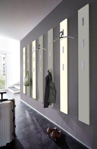 "Germania Garderobenpaneel ""COLORADO 2.0 Matt"" in Vanille mit ausklappbaren Haken, 15 x 170 x 4 cm (BxHxT), 3851-500"