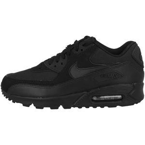 NIKE Air Max 90 Essential Herren Sneaker Schwarz Schuhe, Größe:44 1/2