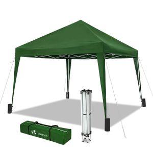 VOUNOT Faltpavillon 3x3m, mit 4 Sandsäcke, Pop Up, UV-Schutz 50+, Grün
