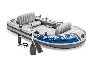 Intex Boot Excursion 4-Sitzer, Set, 315 x 165 x 43 cm, Maximale Tragfähigkeit: 500 kg