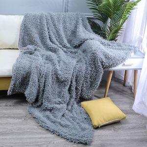 """Langes Fell Decke Faux flauschige Decke Micro Plüsch Super weiche gemütliche Luxus Bett Decke Mikrofaser 63 """"x 79""""【Hellgrau】"""
