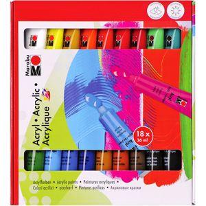 Acrylfarben Set von Marabu, 18 Stück