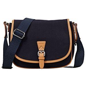 Esprit Damen Handtasche Tasche Susie T Canvas Blau 040EA1O335-400