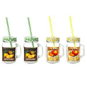 4er Set Vintage Henkelglas Wasserglas Bar Cocktailgläser Barzubehör