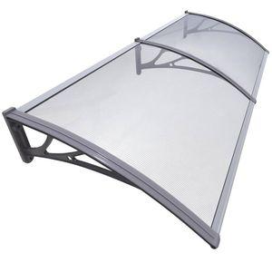 VOUNOT Vordach für Haustür, 200 x 80 cm Transparentes Pultbogenvordach