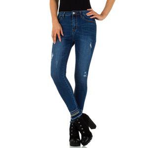 Ital-Design Damen Jeans High Waist Jeans Dunkelblau Gr.34