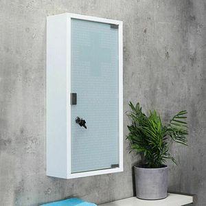Medizinschrank weiß Badschrank 3 Fächer Glasschrank 45x30x12 cm Apothekerschrank