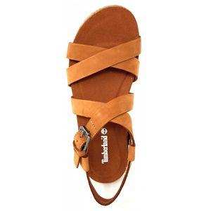 Timberland Malibu Damen klassische Sandale Braun Schuhe, Größe:39