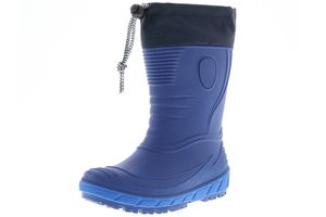G&G Kinder Mädchen Jungen wasserdichte gefütterte Gummistiefel Regenschuhe Stiefeletten blau, Größe:35, Farbe:Blau