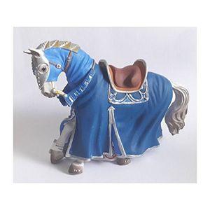 Bullyland 80769 - Figur, Turnierpferd, blau aus Kunststoff 4007176807699