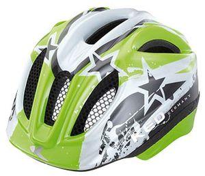 KED MEGGY green stars - Kinderhelm für Fahrradanhänger und Laufräder, Größe:52-58 (M)