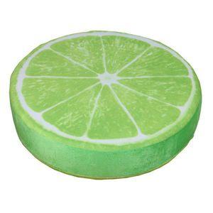 2 Pack 15 Zoll Zitrone Runde Obst Dekokissen Plüschtier Für Home Decor Obst Kissen Sofa Taille Kissen