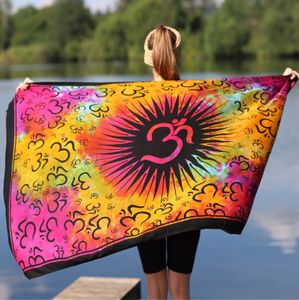 Sarong Yogatuch OM Yoga Strandtuch Multifunktionstuch Dekotuch Tischdecke Wickelkleid