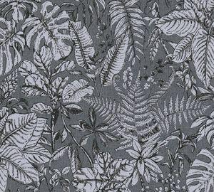 Daniel Hechter Dschungeltapete tropische Tapete Vliestapete grau weiß 10,05 m x 0,53 m