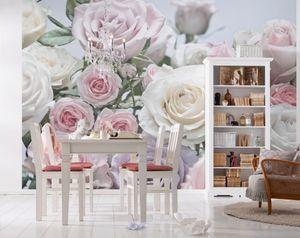 "Komar Fototapete ""Floraison"", rosa/weiß/lila, 368 x 254 cm"