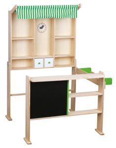 Kaufladen hellgrün/weiß, 74 x 68 x 97cm