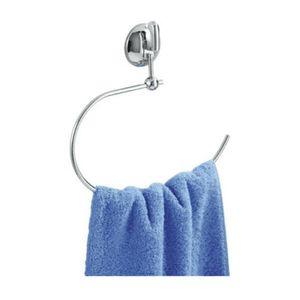 WENKO Handtuchring Edelstahl OHNE Bohren Handtuchhalter Handtuch Ablage Halter