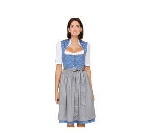Stockerpoint - Dirndl 2tlg., 65cm, Lavinia, Größe:34, Farbe:Blau-grau