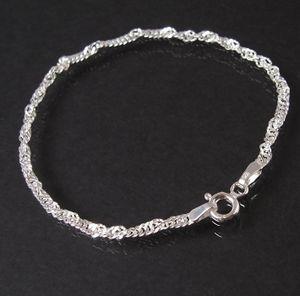 Armband Singapur 925 Silber 2,5mm Niklarson Armkette 19cm 18025-19