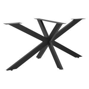 Tischgestell 150x78x71 cm Tischbein Möbelbein DIY Tischzubehör bis 100 kg mit Montageplatte Stahl Schwarz