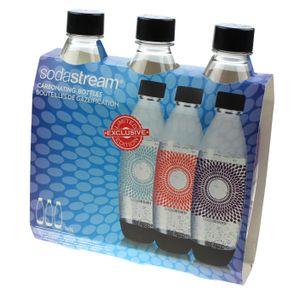 """Sodastream 1741321310 3x Kunststoffflasche """"Firework"""" 1 Liter fürTrinkwassersprudler"""
