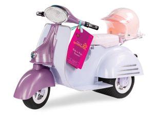 Our Generation - Roller - Scooter mit Helm, lila/blau für Puppe 46 cm