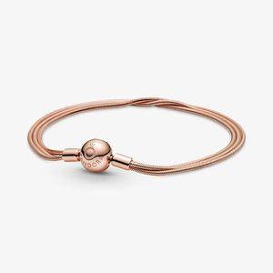 Pandora Rose 589338C00 Schlangen-Gliederarmband Damen Moments Mehrreihig 23 cm