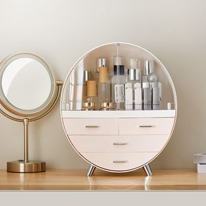 Kosmetikbox Kosmetik organizer Make Up Aufbewahrung Sortierkasten Mini Schrank -Rosa L Size
