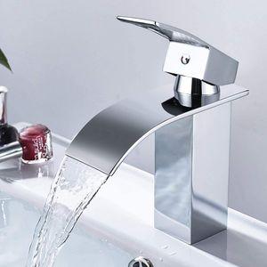 Wasserhahn Bad Armatur Wasserfall - Waschtischarmaturen Einhebelmischer